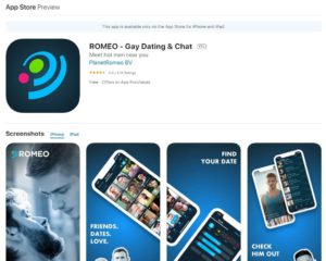 PlanetRomeo rating by app store